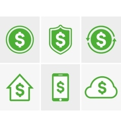 Dollar logo Dollar icon Dollar cloud icon vector
