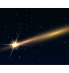 Falling bright star or comert vector image