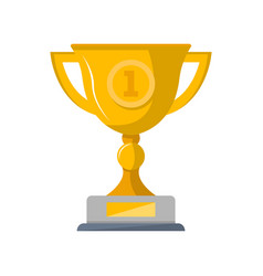 first place winner cup isolated icon vector image