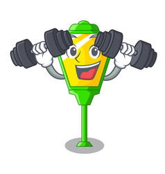 Fitness lamps post collection in a cartoon vector