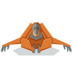 Flat geometric orangutan vector
