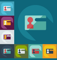 Flat modern design with shadow icons certificate vector