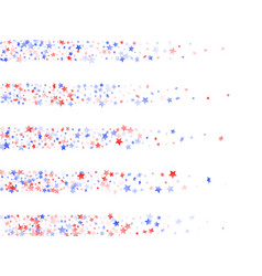 flying red blue white star sparkles on white vector image
