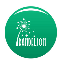 Forest dandelion logo icon green vector