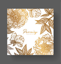 Gold cards templates for wedding stationery with vector