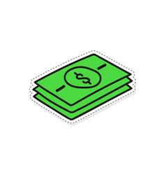 Green banknote stack vector