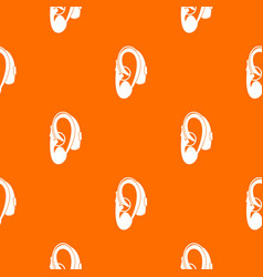 Hearing aid pattern seamless vector