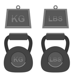 Isolated dumbell gym weights design vector