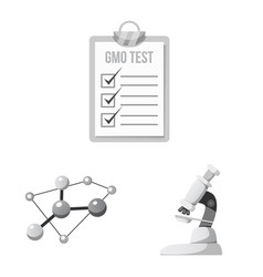 isolated object of genetic and plant logo set of vector image