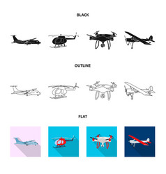 isolated object of plane and transport icon vector image