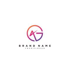 Letter ag logo design vector