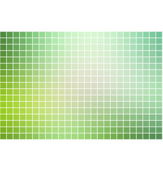 Light green shades square mosaic background over vector