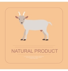 Logotype of natural product with goat vector