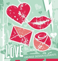 love - grungy design elements vector image
