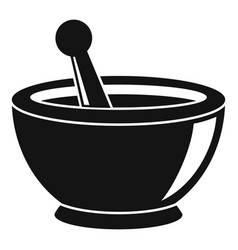 magic bowl icon simple style vector image