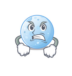 Mascot design concept blue moon with angry face vector