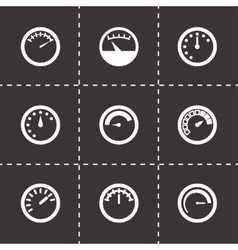 meter icon set vector image