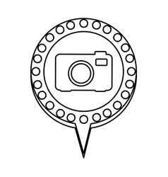 Monochrome silhouette of analog camera and vector