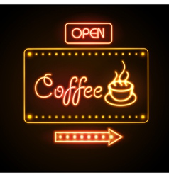 Neon sign Coffee vector image