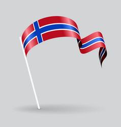 Norwegian wavy flag vector