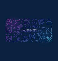 Passion colored line love vector