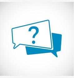 question mark doodle mark as speech vector image
