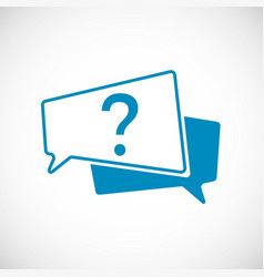 question mark doodle question mark as speech vector image