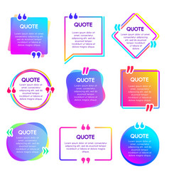 quote info box text remark frame quotes vector image