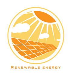 Renewable energy solar energy vector