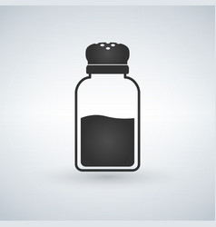 salt shaker icon in flat style isolated on white vector image