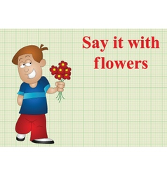 Say it with flowers vector