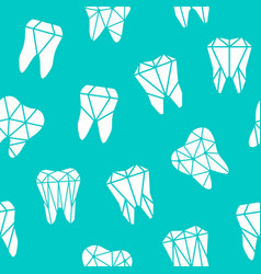 Seamless background with symbols of teeth vector