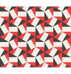 Seamless Black Red White Hexagonal vector image