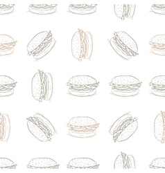 Seamless pattern burger scetch vector