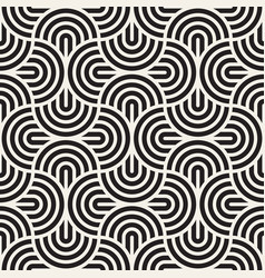 Seamless pattern concentric bold circles vector