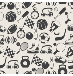 seamless pattern sport icons vector image