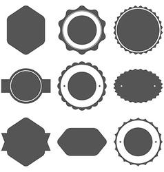 Set vintage frames for emblems labels insignia vector