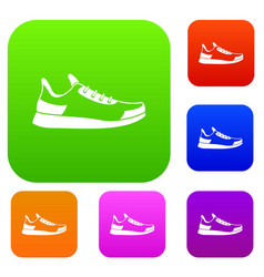 sneaker set collection vector image