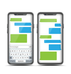 Social messenger speech bubbles vector