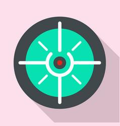 soldier gun aim icon flat style vector image