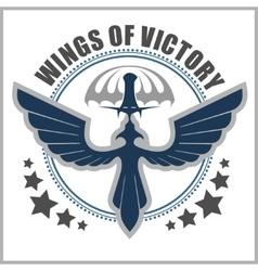 Special unit military emblem design vector image