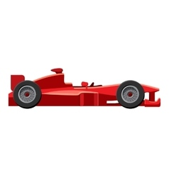 Sport car side view icon isometric 3d style vector image