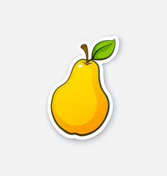 sticker pear with stem vector image