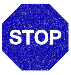 Stop sign icon grunge watermark vector
