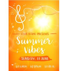 Summer vibes card vector