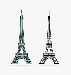 Symbol eiffel tower vector