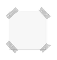 Tapes scotch on paper square card vector