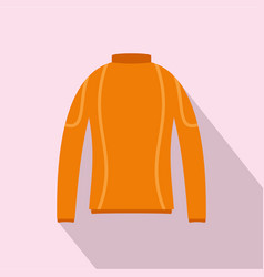 Thermo clothes icon flat style vector