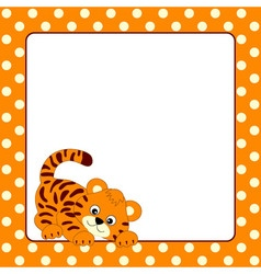 Tiger Card vector image
