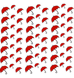umbrellas wallpaper on white background vector image
